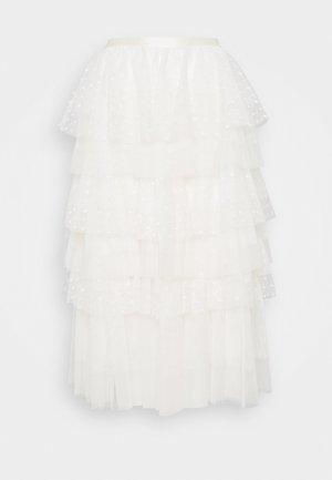 RUFFLE SKIRT - A-line skirt - gardenia