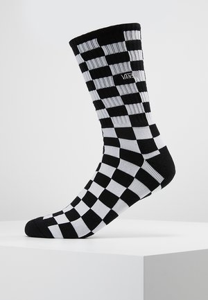 CHECKERBOARD CREW - Strumpor - black/white