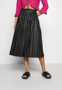 ONLY - ONLMIE MIDI PLEAT SKIRT - A-line skirt - black - 0