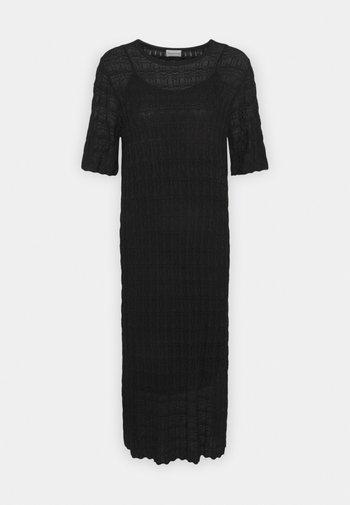 DRYPHIS 2-IN-1 - Pletené šaty - black