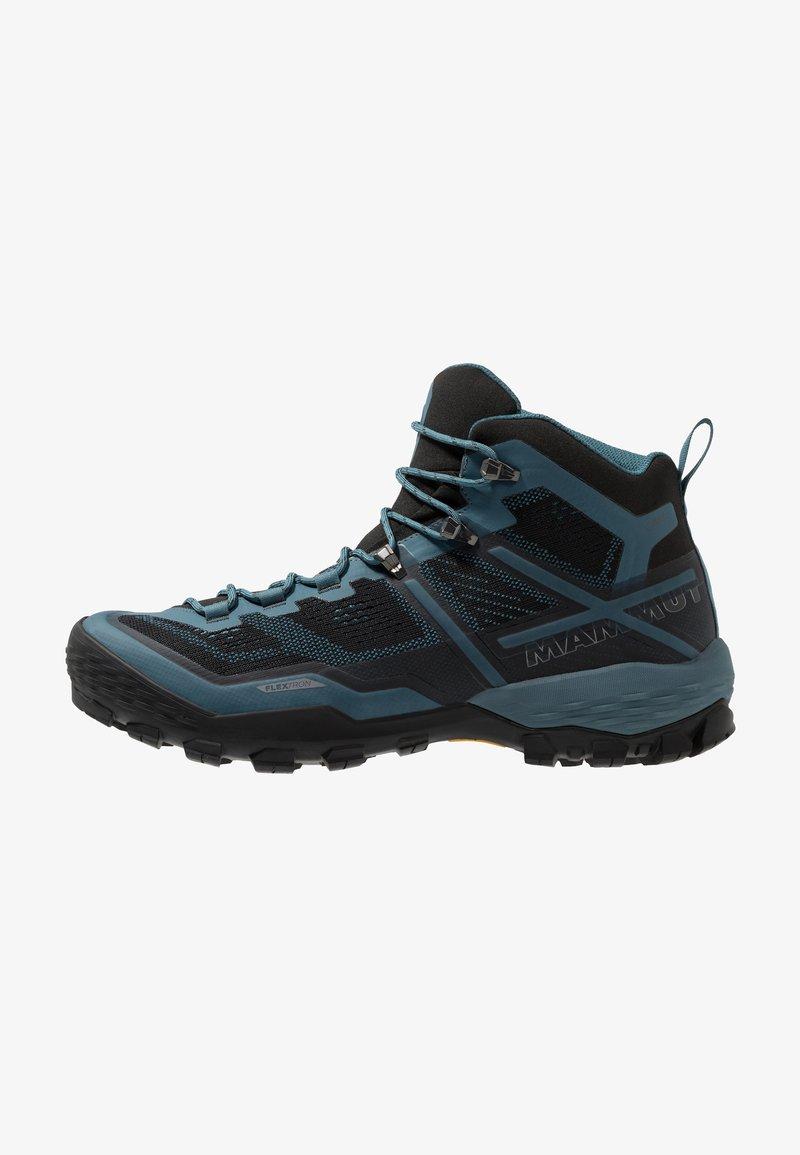 Mammut - DUCAN MID GTX - Hiking shoes - black/light poseidon