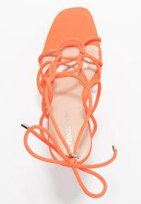 Public Desire - SAVY - Sandály na vysokém podpatku - orange - 3