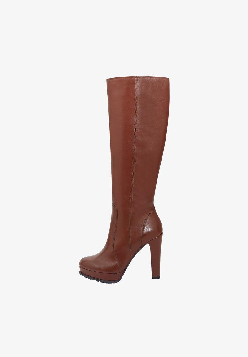 PoiLei - ELVA - High heeled boots - brown