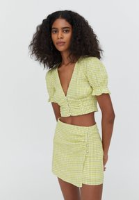PULL&BEAR - A-line skirt - light green - 3
