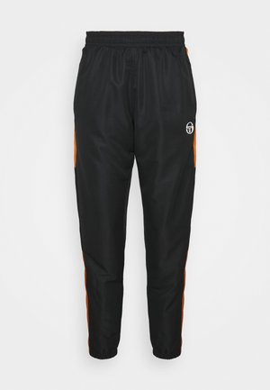 ABITA PANTS - Tracksuit bottoms - black/orange