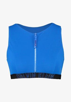 INTENSE POWER OPEN BACK CROP - Bikini top - duke blue