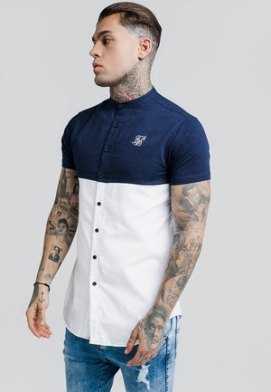 CUT AND SEW GRANDAD SHIRT - Shirt - navy/white
