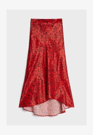 MIT PRINT  - A-line skirt - red
