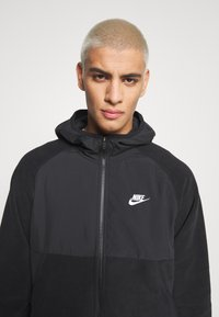 Nike Sportswear - HOODIE WINTER - Fleece jacket - black/white - 3
