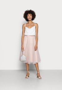 Esprit Collection - SKIRT - A-line skirt - nude - 1