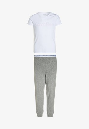 Pyjama set - white/grey heather