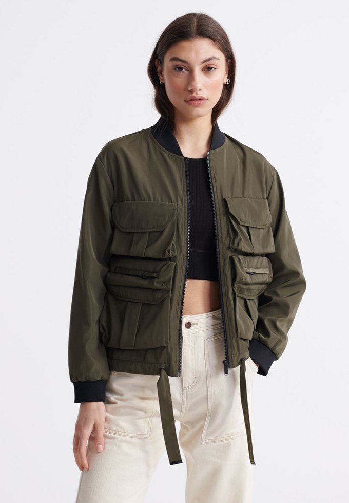 Superdry - NAMID - Bomber Jacket - bungee cord