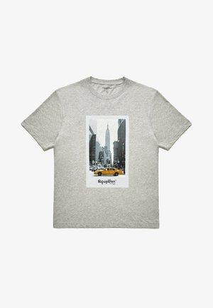 MANHATTAN  - Print T-shirt - grigio melange medio