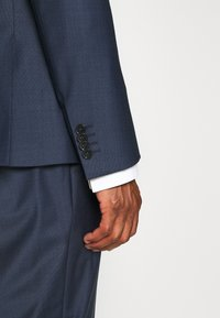 Calvin Klein Tailored - STRETCH SMALL GRID SUIT - Trousers - blue - 9