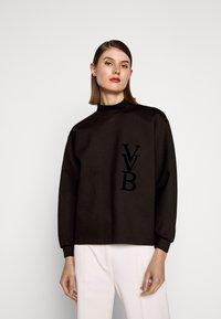 Victoria Victoria Beckham - RAISED LOGO - Top sdlouhým rukávem - black - 0