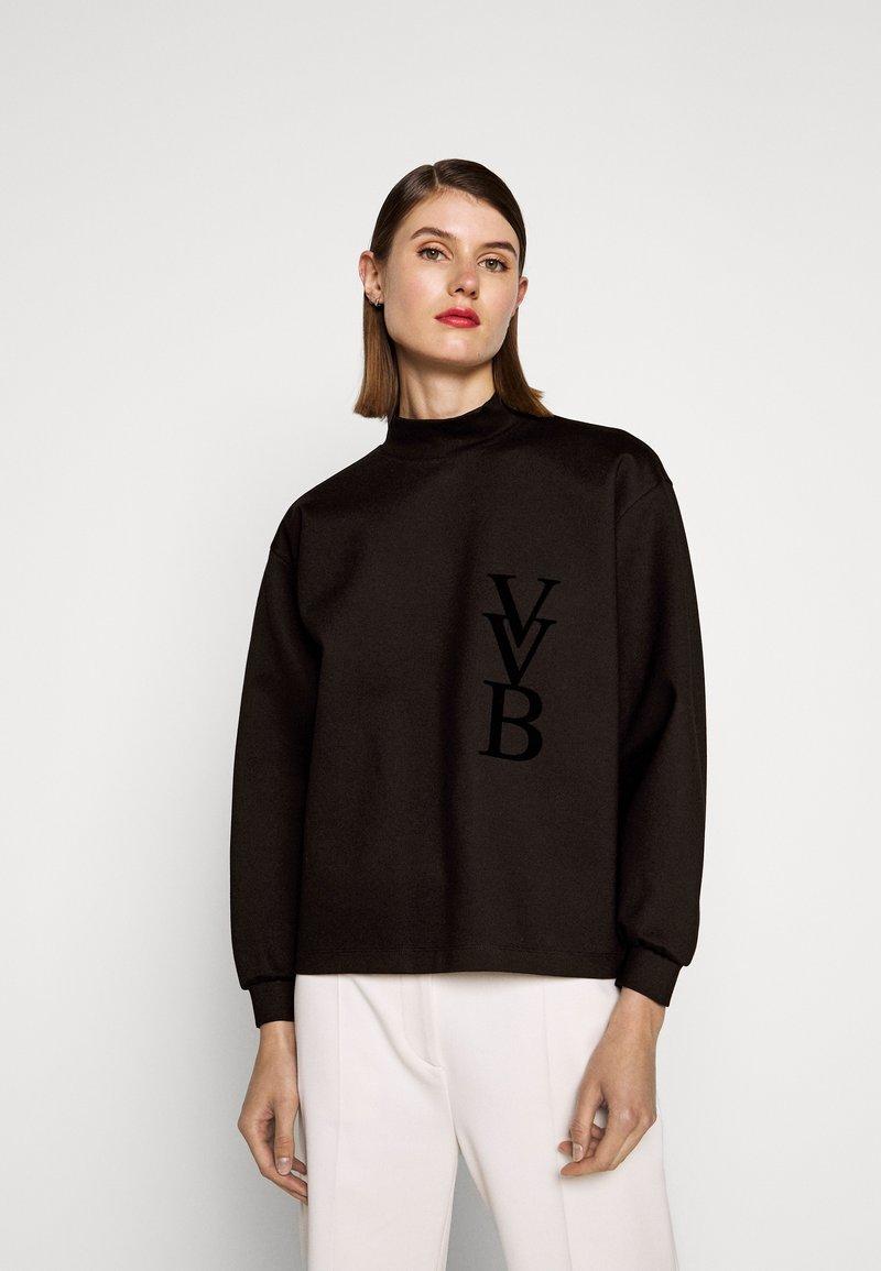 Victoria Victoria Beckham - RAISED LOGO - Top sdlouhým rukávem - black