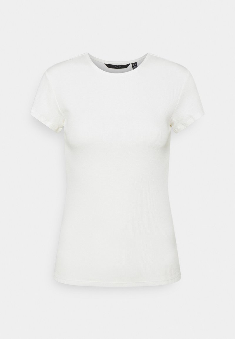 Vero Moda - VMLENA CAP SLEEVE - T-shirts basic - snow white