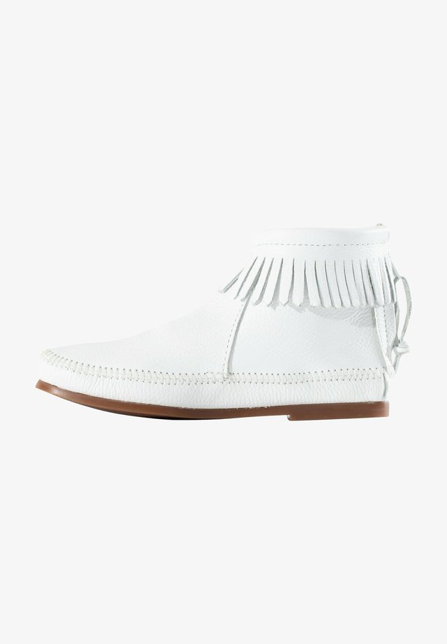 Ankle boots - white
