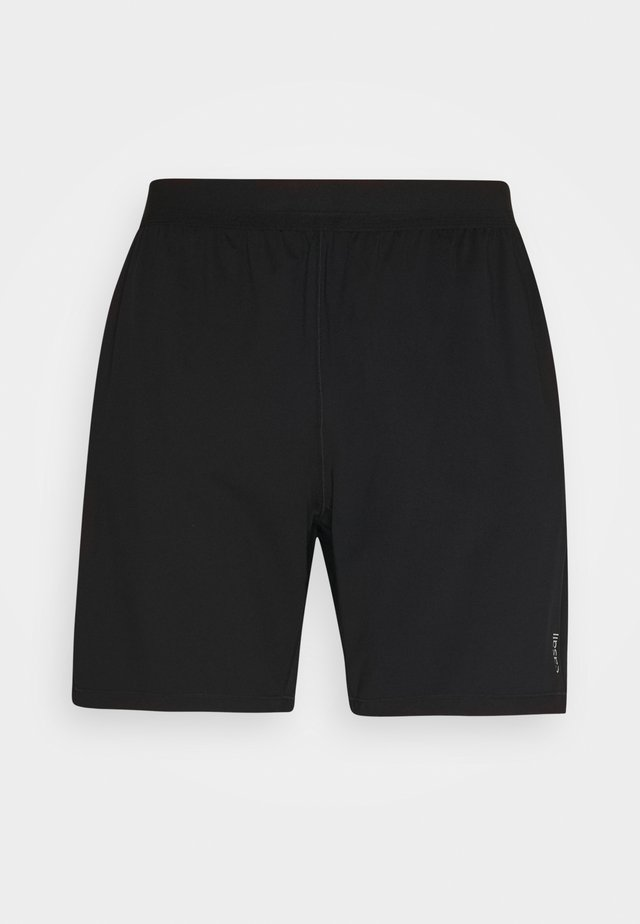 ELASTIC SHORTS - Sports shorts - black