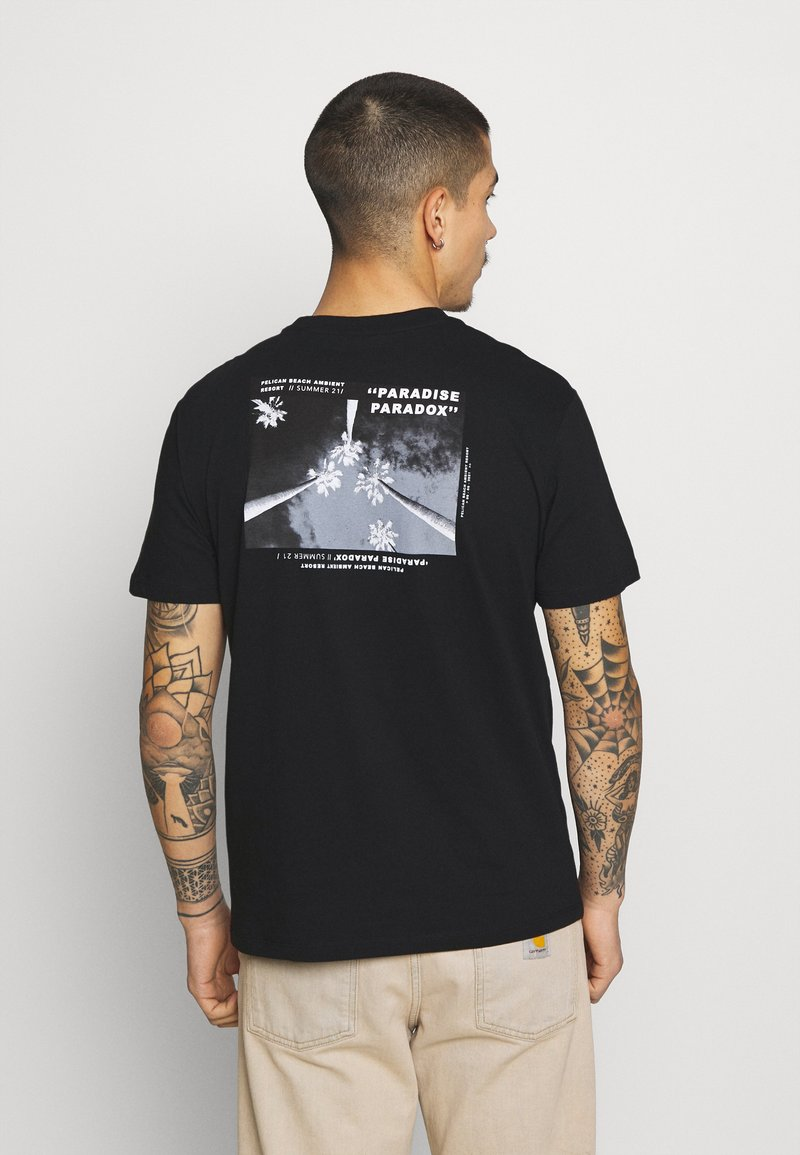 Only & Sons - ONSPASTE LIFE TEE - Print T-shirt - black
