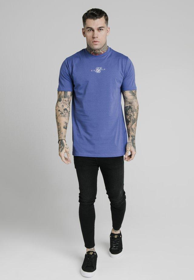 SQUARE HEM TEE - T-shirt basic - blue