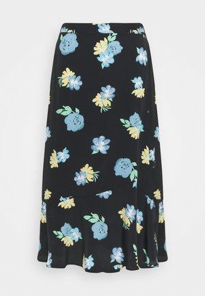 FLOUNCE MIDI SKIRT - A-line skirt - black