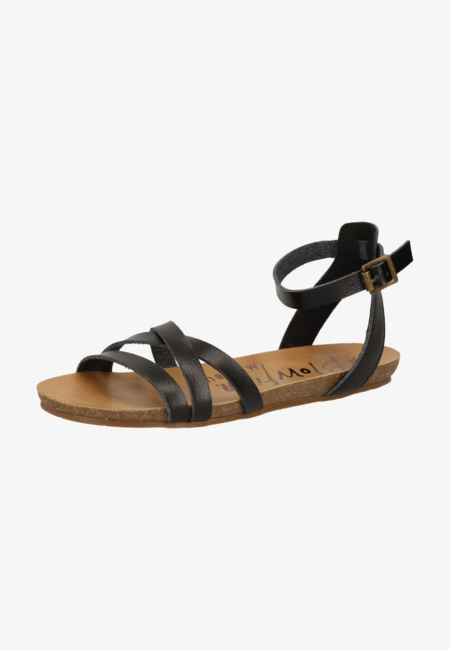 Ankle cuff sandals - black