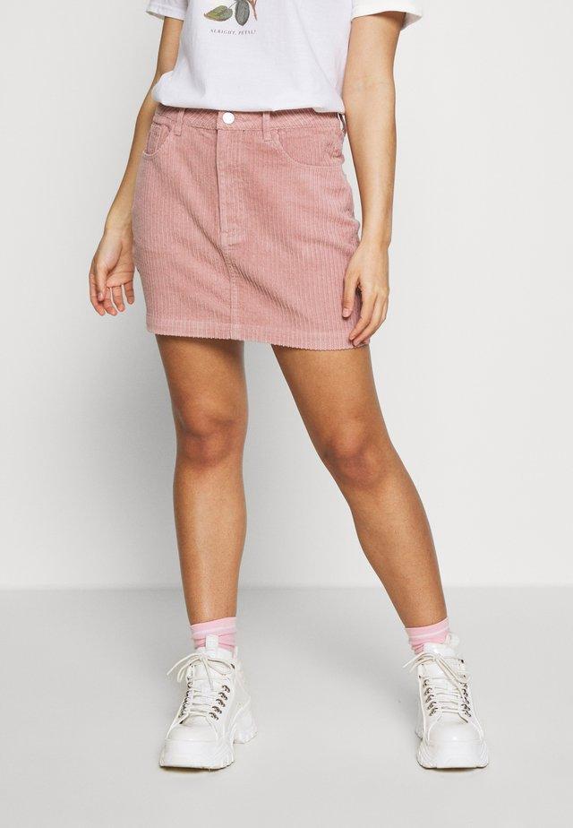 JUMBO MINI - Mini skirt - pink