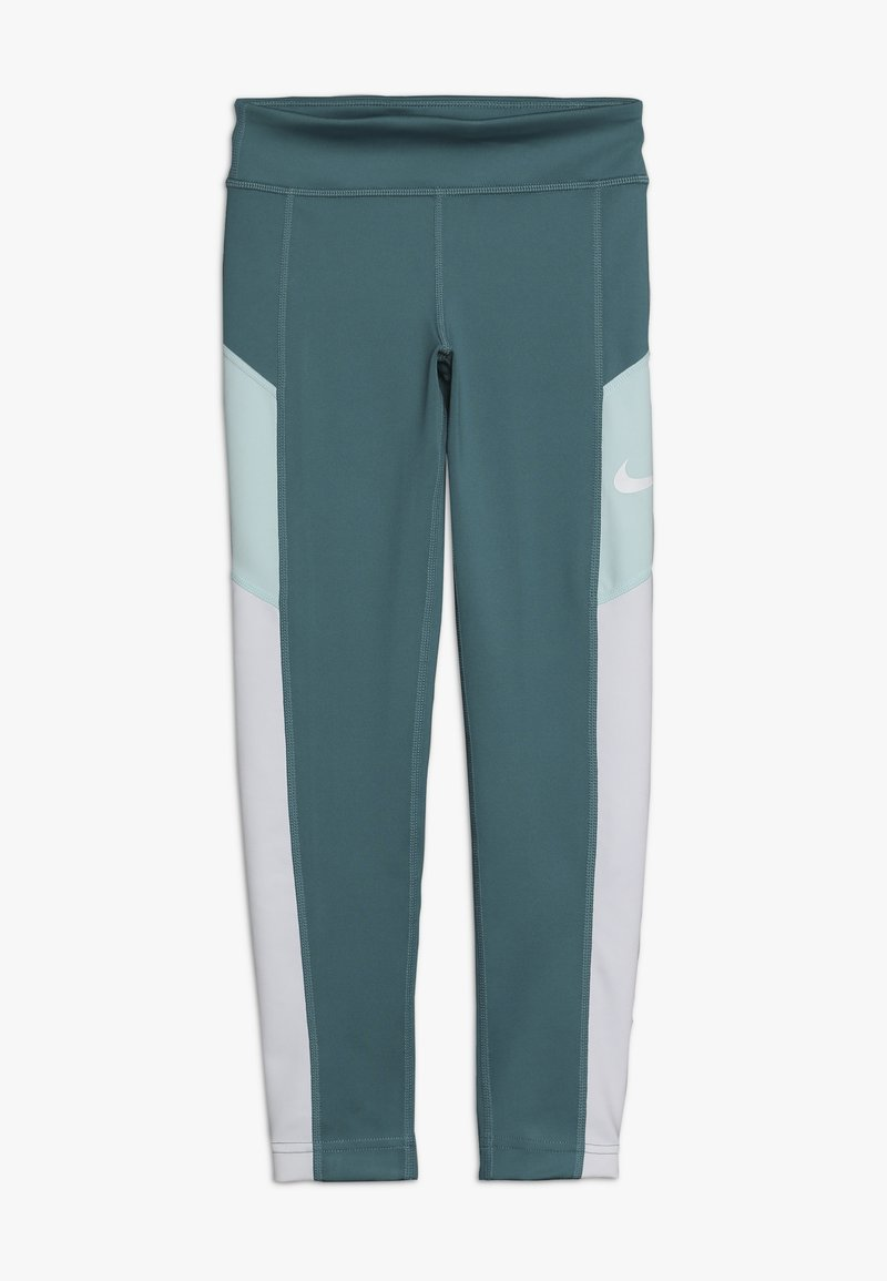 Nike Performance - TROPHY - Legginsy - mineral teal/white/teal tint