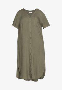 ONLY Carmakoma - CARDENIZIA CALF DRESS SOLI - Day dress - kalamata - 4