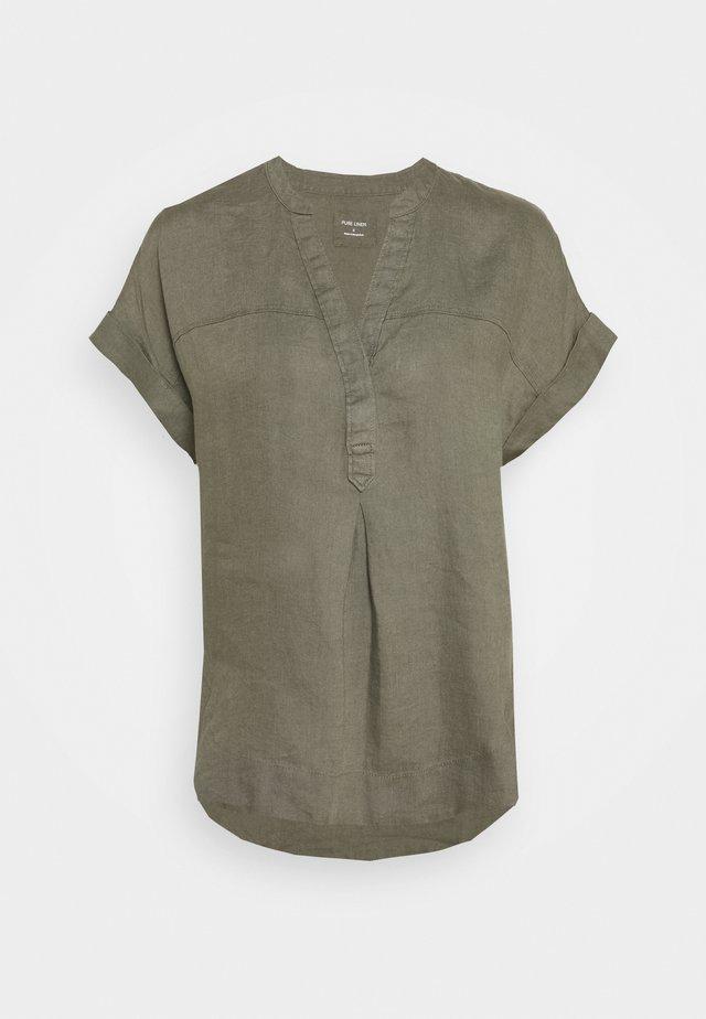 BLOUSE - T-shirt print - khaki