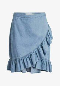 Vila - A-snit nederdel/ A-formede nederdele - light blue denim - 4