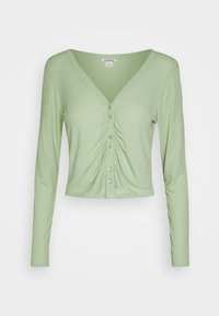 Monki - OVERA - Cardigan - green dusty light - 3