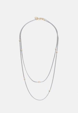 HERRINGBONE Y NECK - Necklace - silver-coloured