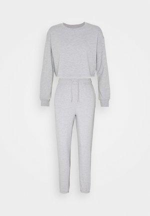 SET - Sweatshirt - mottled light grey