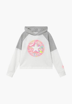 BLOCKED HOODIE - Hoodie - lunar rock heather