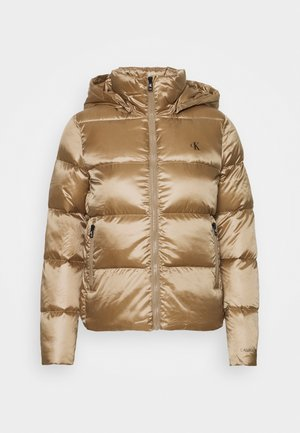 SHINY PUFFER - Down jacket - gold