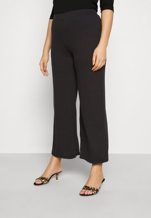 PCSIMINIA PANTS CURVE - Trousers - black
