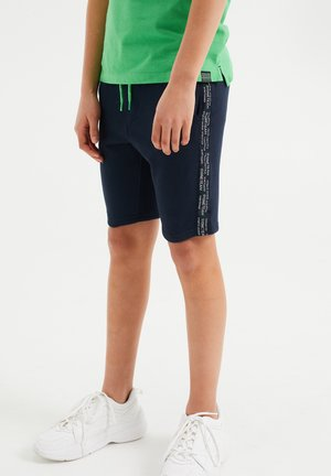 MET TAPEDETAIL - Shorts - dark blue