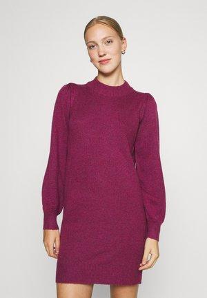 HIGH NECK KNT NOOS - Shift dress - raspberry radiance