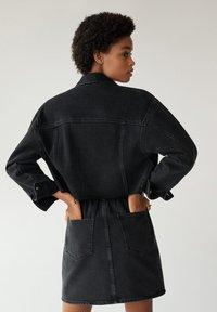 Mango - PAPERBAG - A-line skirt - black denim - 2