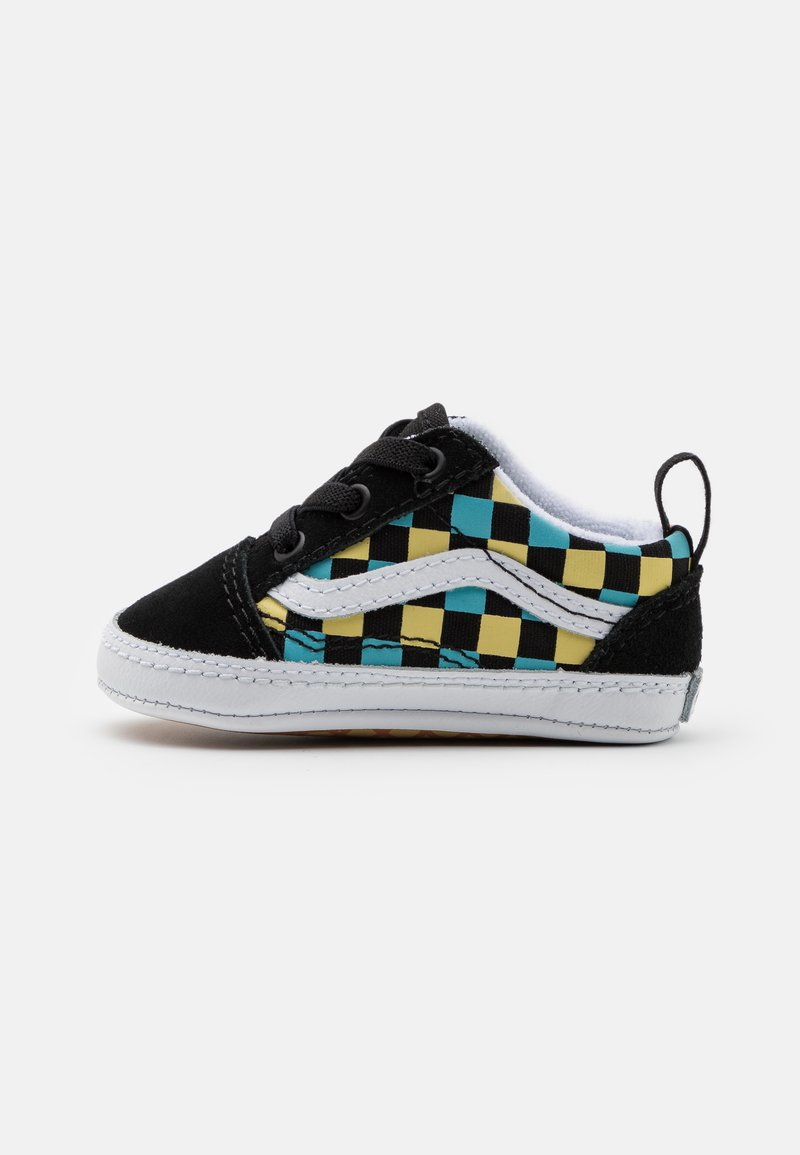 Vans - OLD SKOOL CRIB UNISEX - First shoes - black/multicolor