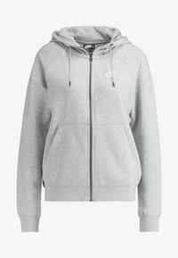 HOODIE - Bluza rozpinana - grey heather/white