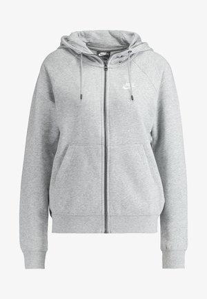 HOODIE - Sudadera con cremallera - grey heather/white