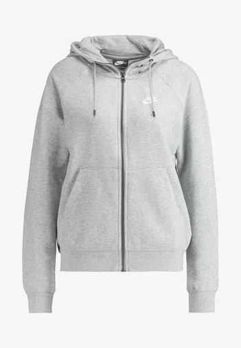 HOODIE - Zip-up sweatshirt - grey heather/white