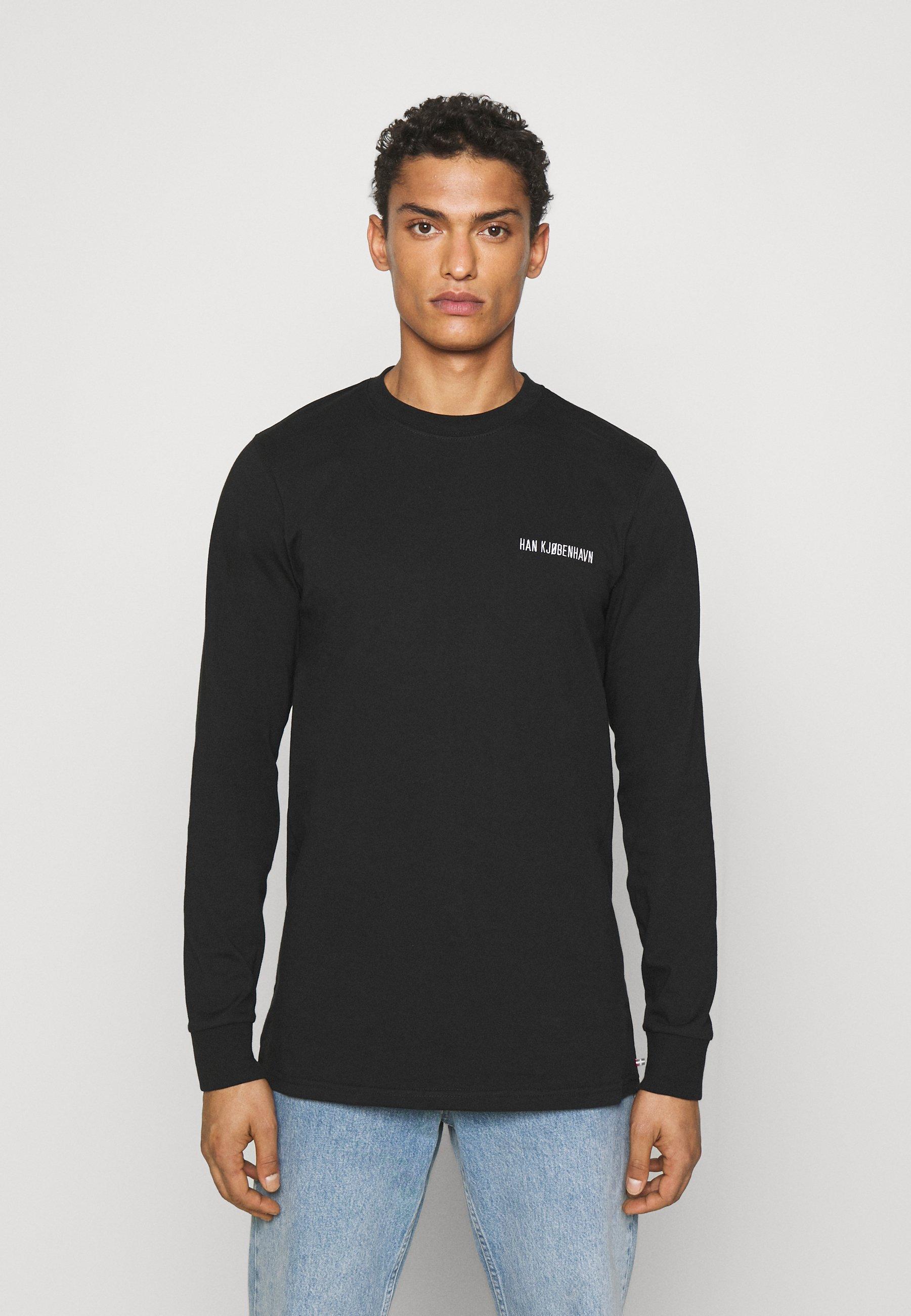 Men CASUAL TEE LONG SLEEVE - Long sleeved top - black