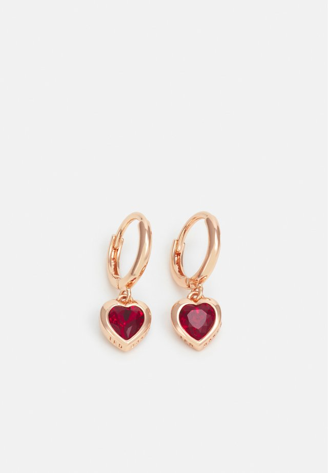 HANNIY HEART EARRING - Örhänge - rose gold-coloured