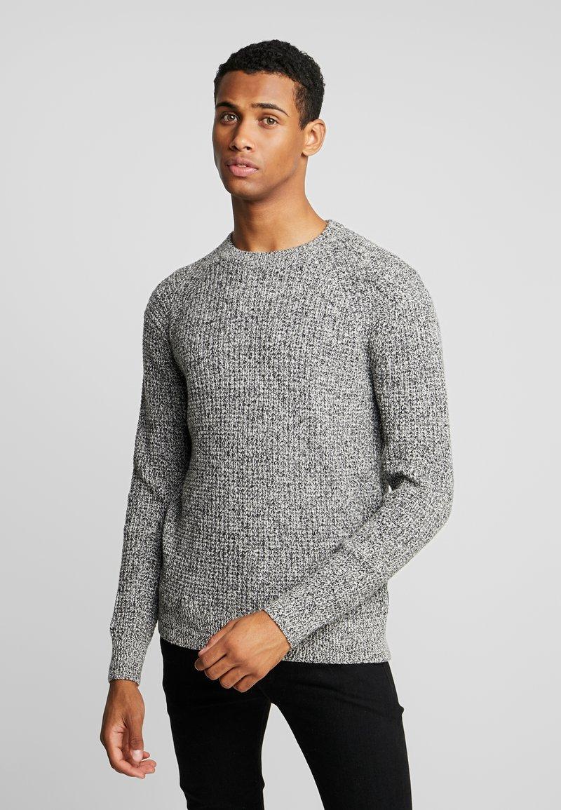 Calvin Klein - MOULINE TEXTURE SWEATER - Jumper - white