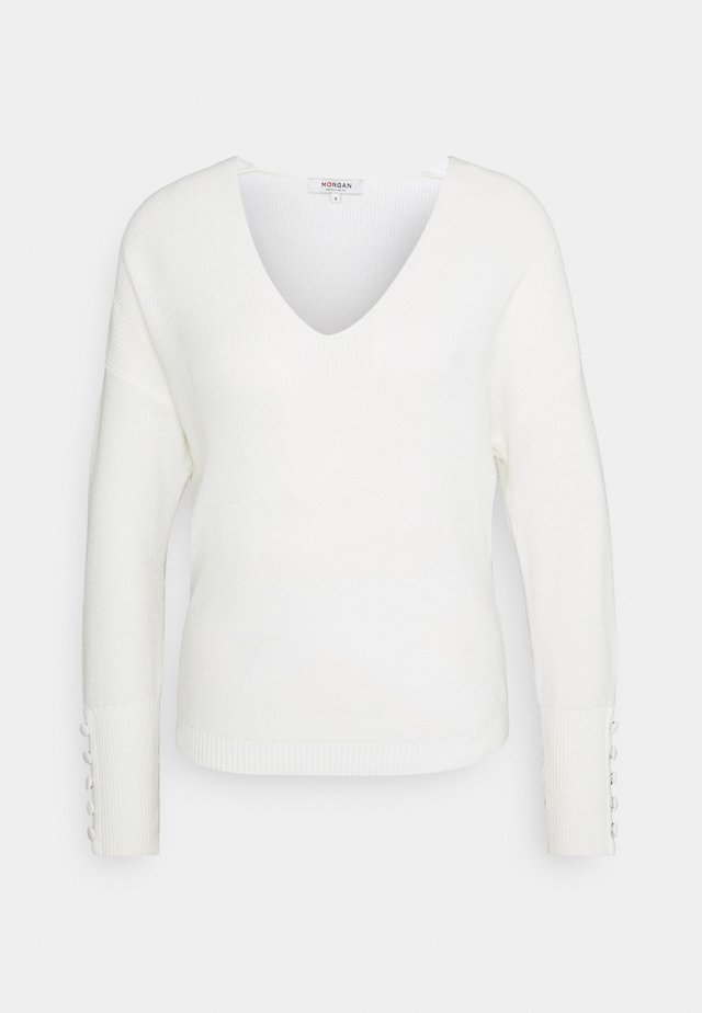 MIEN V-NECK - Pullover - off white