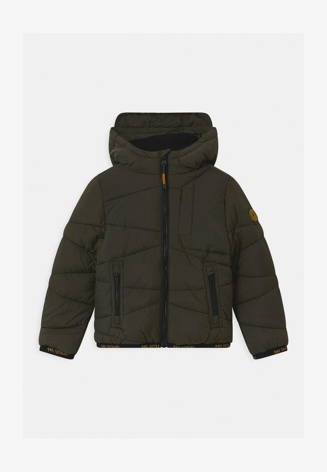 PADDED HOOD - Winter jacket - beetle